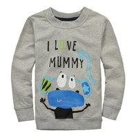 2014 New Autumn Boys Cartoon Clothing Baby Animals T-shirt Tops Tees Kids 100% Cotton t-shirts Children's Printed tshirts