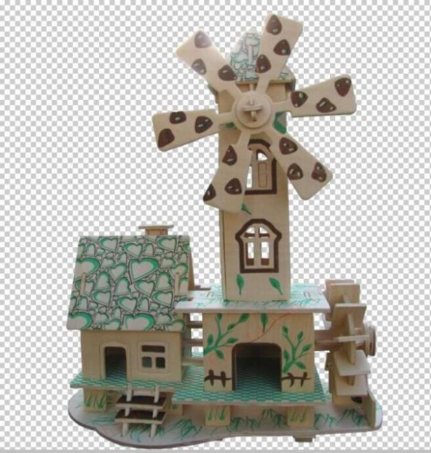 3d puzzle wooden children's educational house model forest hut TOYS(China (Mainland))