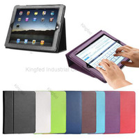500 pcs/lot for New iPad 4 iPad 3 2 with Sleep Wake Magnetic Leather Smart Cover Case Stand