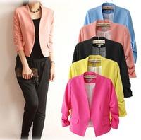2015 Casual European Style Women Short Coat Suit Famous Brand Jacket O-neck Slim Spring Autumn Winter Outwear CL2320