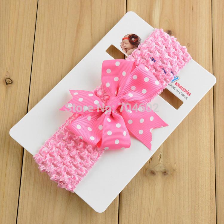 La promotion des ventes seulement 1 pièce livraison gratuite mode bandeaux bébé filles. bambins jeunesse, bowknot cheveux bande fda63 accessoires