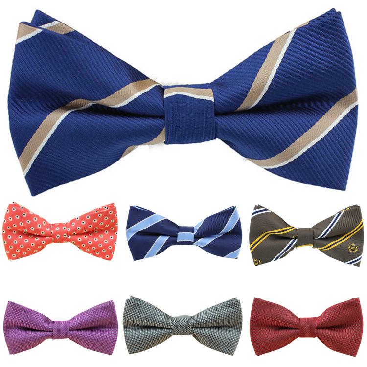 1pcs Fashion High Quality Mens Tuxedo stripe Bowtie adult Bow Tie male Necktie wedding accessories