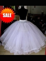 In Stock Hot sale 6 layers Wedding Bridal Gown Dress without hoops Petticoat Underskirt Crinoline Wedding Accessories