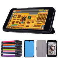 "40pcs/lot Slim Leather Case Stand Skin Cover Protective For HP Stream 7 TD-LTE WIN8 7"" 7inch Tablet PC DHL"