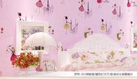 2014 children's room cartoon nonwoven wallpaper backdrop pink bedroom