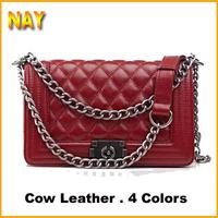 Women's Shoulder Bags Vintage Plaid Hasp Chain Shoulder Bags Desigual Cow Leather Handbags Ladies Messenger Bags 2015