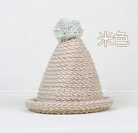 2014 Korea new candy-colored wool hat pointy top witch balls warm autumn and winter female Korean tidal basin cap