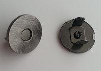 Thin Magnetic Snap Closures black Nickel Color Thin Magnetic Snap Closures 14mm