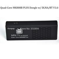 OURSPOP Quad Core MK808B Plus MK808B Amlogic M805 Quad Core Android 4.4 Mini TV Dongle 1G/8G WIFI H.265 Streaming Media Player