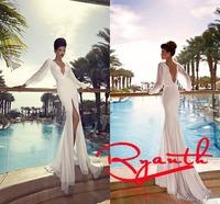 RBW073 Vestidos De Noiva Sexy V-Neck Backless Mermaid Wedding Dresses 2015 Cheap Wedding Dress Vestidos De Festa Vestido Longo