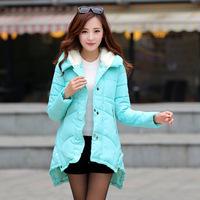 2014 Winter new Korean long paragraph Slim was thin cotton dress cape woman's  coat 120901
