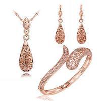 Free shipping! Charm fashion crystal jewelry sets for girls, Popular elegant bridal jewelry set