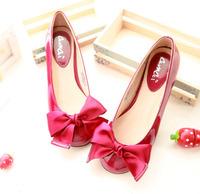 Free shipping 2014 Spring autumn new star style casual sweet flat heel women shoes woman bow women flats sapatos femininos