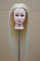 "Free shipping 20"" Cosmetology Training Mannequin Head 100% Human Hair"