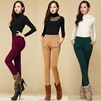 Women's Woman Cotton Sports Pants Casual Loose Thin Trousers Long Plus thick velvet Warm Harem Pants OL Pencil Pants