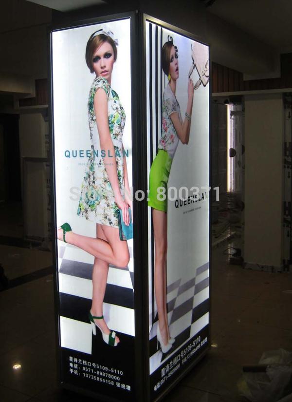 """Parede quadro de alumínio Snap Led placas de publicidade caixa de luz 18 """" x 60 """"(China (Mainland))"""