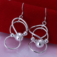 Fast/Free Shipping Wholesale 925 Sterling Silver Jewelry With Beads Drop Earrings Women Gift Trendy Brincos Earring E71