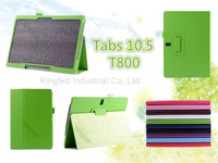 100 pcs/lot for Samsung Galaxy TabS 10.5  T800 PU Leather Flip Reversal Stand Case Cover with Multi-Angle Stand