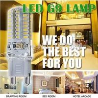 High Power SMD3014 3W 6W 220V G9 LED Lamp Replace 30W halogen lamp 360 Beam Angle LED Bulb Lamps  10pcs/lot