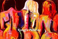 ST025 Handmade painting living room pictures design nude women canvas art painting pop art 80X120CM