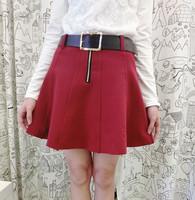 2014 autumn and winter short a-line skirt half-length skirt all-match fashion puff skirt pleated skirt sheds basic shorts female