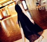 2014 New Women Sexy dress classical dress Awesomeness shining shoulder pads dress casual dress 9071