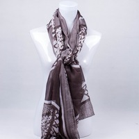 Free Shipping!  New Ladies Beauty large flower  printing  female voile  beach scarf  women's180*110CM  long  big shawls