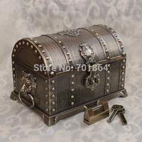 Big Size Bronze Color Treasure Box Fashion Metal Jewelry Case Trinket Alloy Box Perfect Gift Pirates of the Caribbean