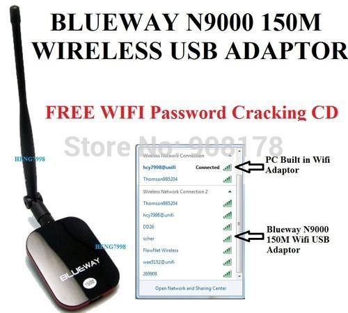 30 , BlueWay N9000 USB WiFi 150Mbps WiFi 60dbi WiFi total quartz 9000 future 5w 30