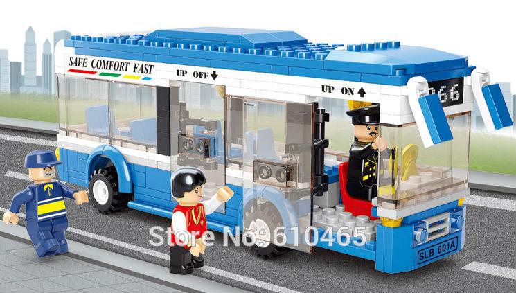 Free shipping single city bus fight inserted blocks M38-B0330 Educational Toys(China (Mainland))
