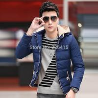 Top Quality Winter Hooded Jacket Men Long-sleeved Casual Wadded Jacket Men Plus Size M-5XL Slim Men Coat Free Shipping
