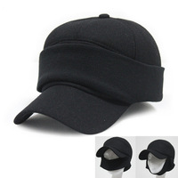 3 style Woolen clothes face protection ear protectors round warm Baseball cap winter unisex love 2color 1pcs free shipping