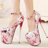 Women ultra high heels 19 cm high quality red bottom shoes 2014 plus size 35-43 heels women pumps woman sexy evening shoes