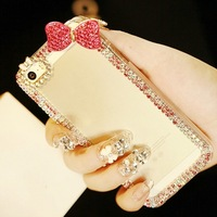Luxury 3D Bow Bling Crystal Diamond Case For iPhone 6 6 Plus 4 4S 5g 5C 5S Rhinestone Case Covers 1 PCS Free Shipping.