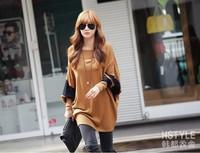 New 2014 Fashion Spring Women Clothing Long Sleeve T Shirt Loose Casual  T Shirts Women Cotton Tops in Stock Free shipping