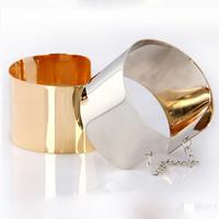 Women Fashion Wide Metal Mirror Chains  Punk Bracelets Hot  Free Shipping
