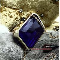famous brand letter clutch Transparent Crystal party bag Perfume women bag purse wallets bolsas femininas 2014 6 color select