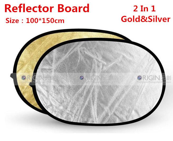 100*150cmStudio Flash Accessories Reflector Board Dish 2 IN 1 Gold+Silver 100*150cm(China (Mainland))