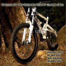 "24 Speeds 26"" Oil Disc Brake Micro Drivetrain Aluminium Alloy Soft-tail Frame  Full Suspension Downhill Bicicleta Mountain Bikes(China (Mainland))"
