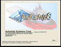 Ship design ASC Autoship 8.2.0 English version of the full series of full function