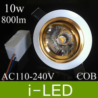 New style Led Ceiling Downlight 10w Cob Recessed Led Spot light Bulb lamps 110-240v Natural White 4500k cut hole 70-75mm