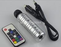 Free Shipping 6W RGB LED fiber optic illuminator,with 17key RF remote controller;car used,DC12V input.