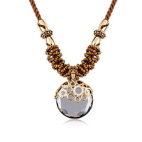 Brand new fashion woman Top Selling 18K gold necklace crystal necklace sweater chain rhyme style 95074