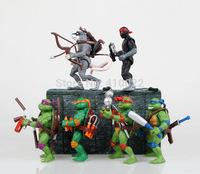 TMNT Teenage Mutant Ninja Turtles Action Figure Dolls 12cm Anime toys 6 pcs/lot for the boys Gift