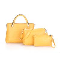 B-037# 1pc handbag+1pc messenger bag+1pc purse 3bags New Fashion quality leather lady bag portable cross-body bag large capacity