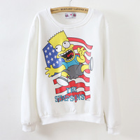 Funny Cartoon Pattern Women T-shirts Cotton With Velvet Woman Tees Warm Casual Ladies Undershirts Top Wear For Autumn Or Winter