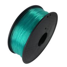 Transparent Green Color 3D Printer Filament PLA 1.75mm 1kg Plastic Rubber Consumables Material