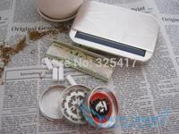 Fashion 110mm Metal Cigarette Roller & Storage Box Automatic-cigarette Rolling Machine - Silver Free shipping 1set R147