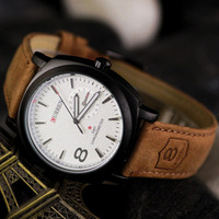 Free shipping Retail Genuine Leather  Outdoor Quartz watch  Army  men's watch wristwatches
