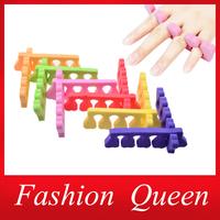 Soft Foam Nail Art Toe Separators,20pcs (10pairs) Orthedontic Straightening Finger Feet Care Separator Nail Tools